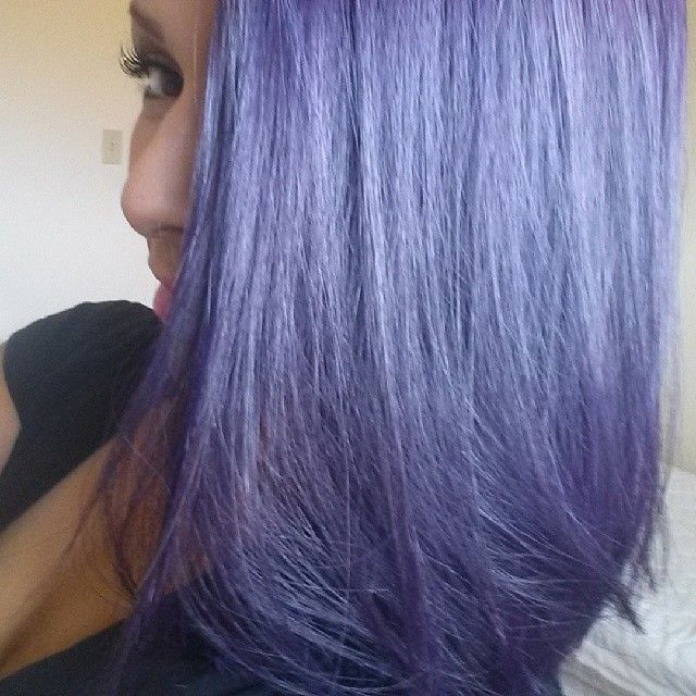 A pastel-ized version of Purple Rage by Adore hair color.