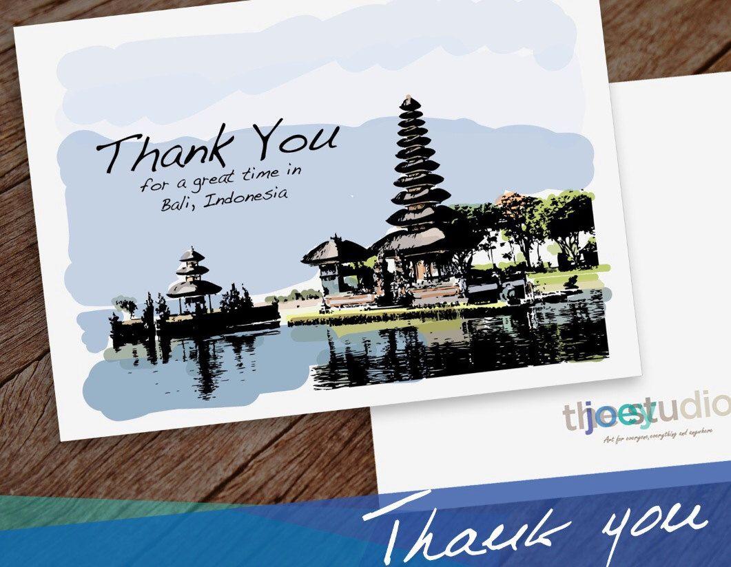 Bali thank you greeting card thank you bali indonesia 5x7 card bali thank you greeting card thank you bali indonesia card blank inside with white envelope kristyandbryce Image collections