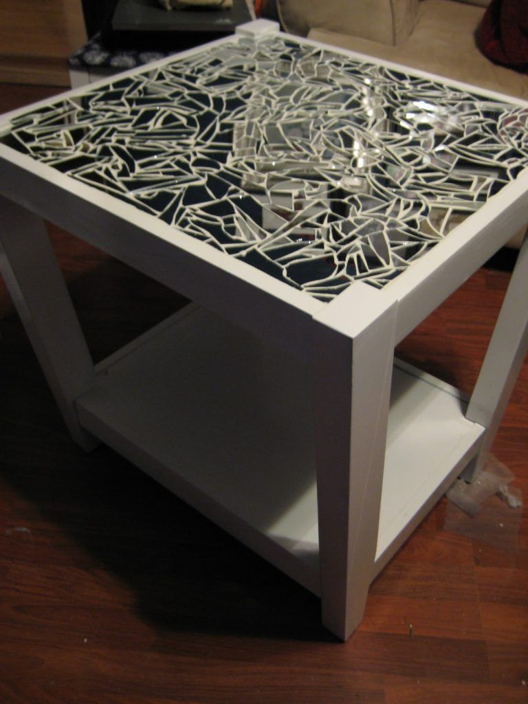 Tedious Tinkering Mirrored Mosaic Tables Added Bonus The Mirrors