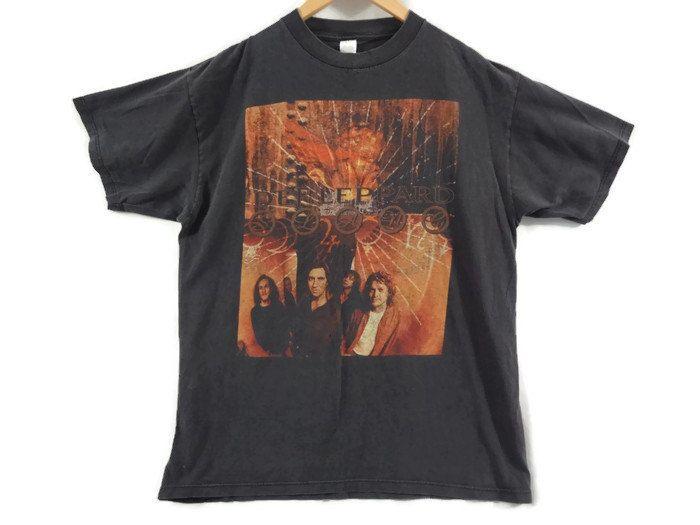Vintage Def Leppard Tour Shirt - 1996 - XL - Faded - Band Tee - Rock Shirt…