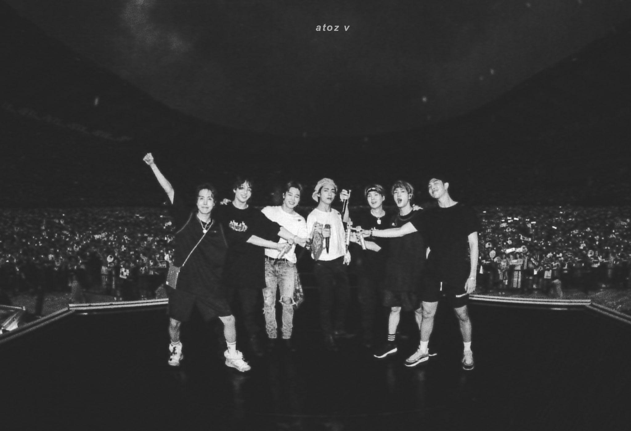 Atoz V On Twitter Bts Concert Bts Black And White Bts Header Bts concert wallpaper laptop hd