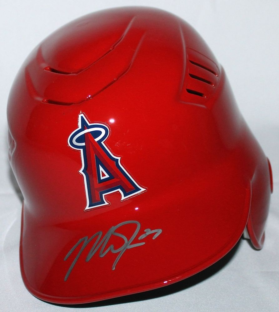 Mike Trout Signed Angels Authentic Full Size Batting Helmet Mlb Steiner Coa Batting Helmet Mike Trout Mlb