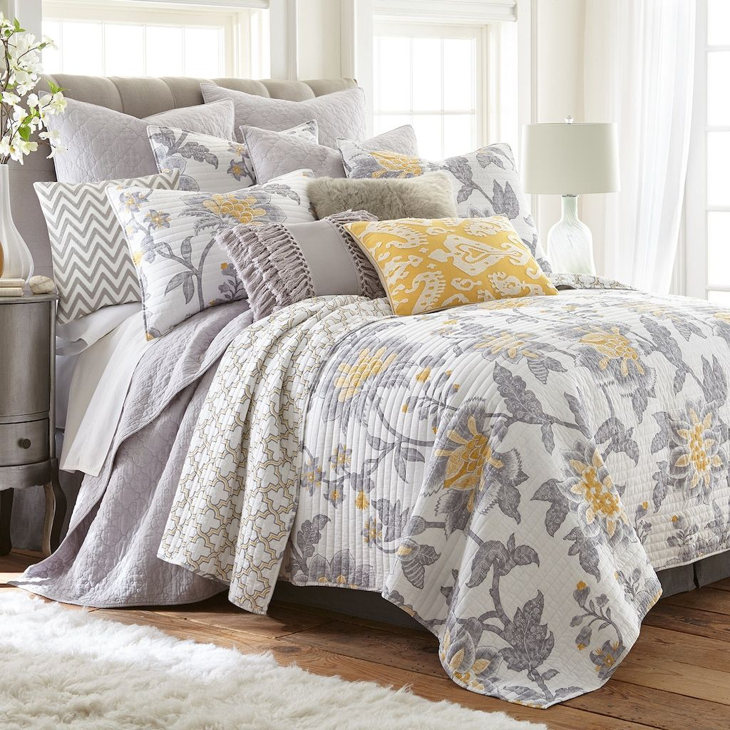 Levtex Home Reverie Quilt Set In 2020 Yellow Bedding Quilt Sets Bedding Quilt Sets