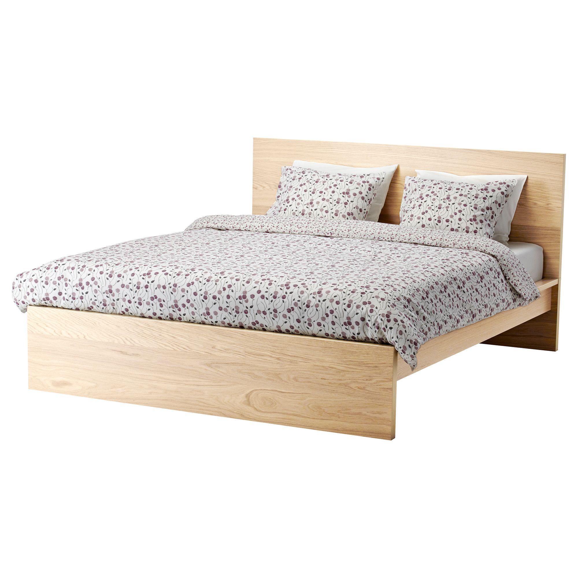 Best Ikea Malm Bed Frame High White Stained Oak Veneer 640 x 480