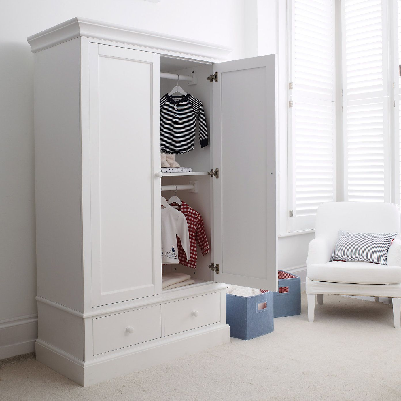 Classic small wardrobe the white company childrenus rooms
