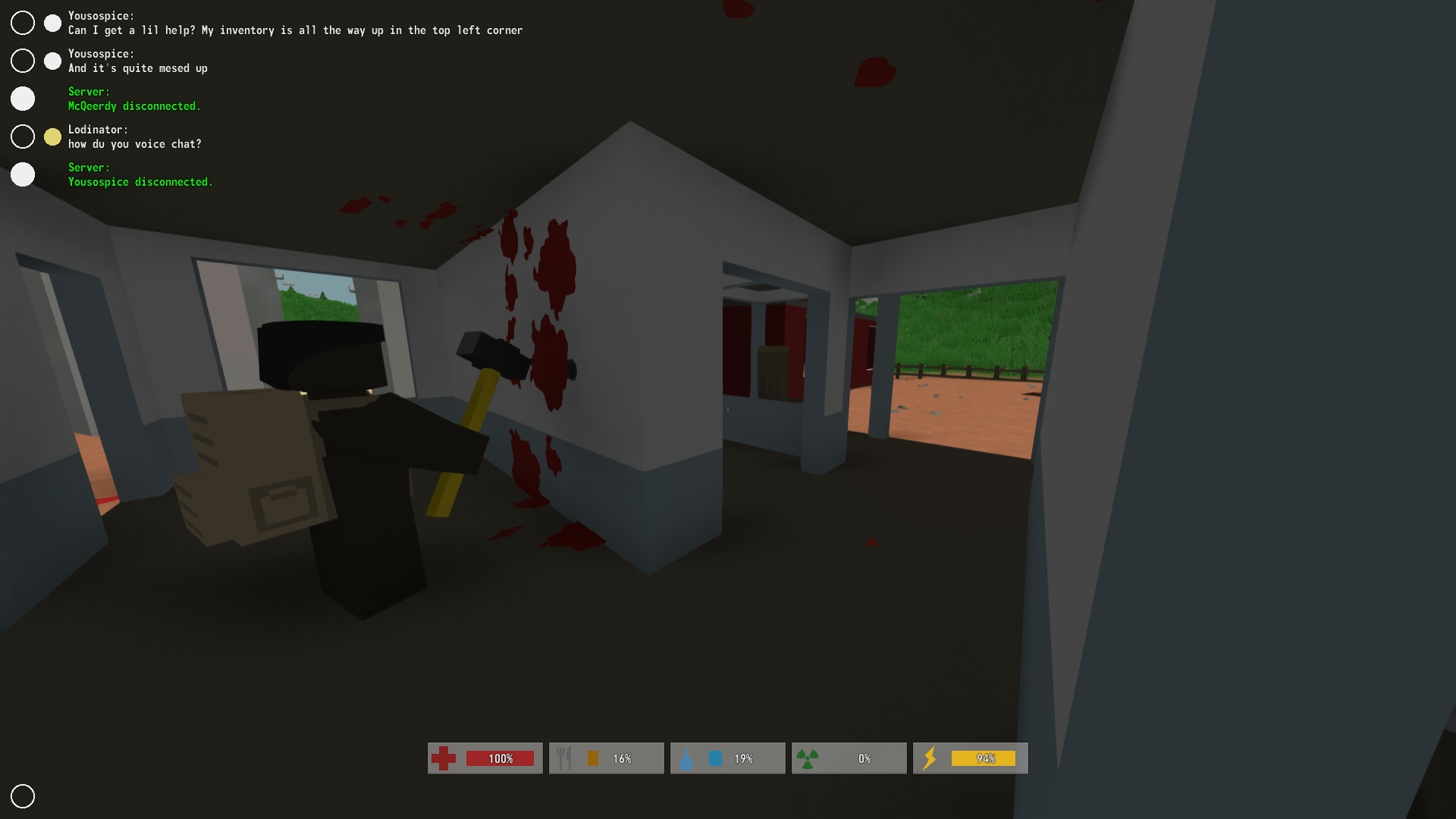 Sledge Hammer Maniac In The New Unturned Zombie Survival Game That S Free To Play On Steam Unturned Check Out My Survival Games Zombie Survival Sledgehammer