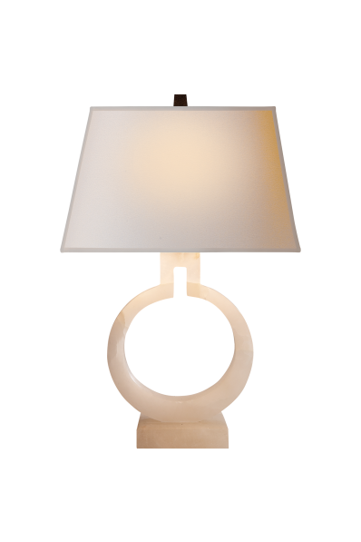 Ring Form Small Table Lamp Height 21 Width 13 5 Base 4 X Rectangle Shade Details 10 8