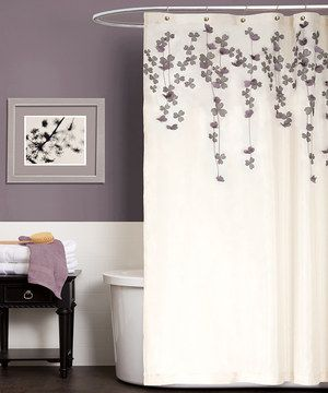Shower Curtain Inspiration Hot Glue Sew Faux Flower Petals