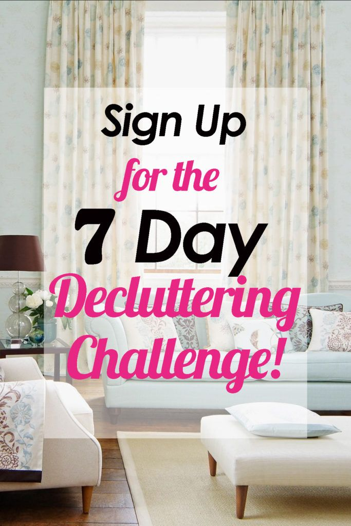 The 7 Day Decluttering Challenge | Decluttering, Organizing and Recipes