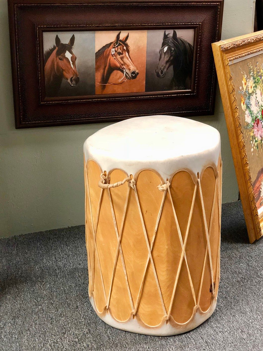 Native American Style Drum Bonrics Custom Framing and Gallery ...