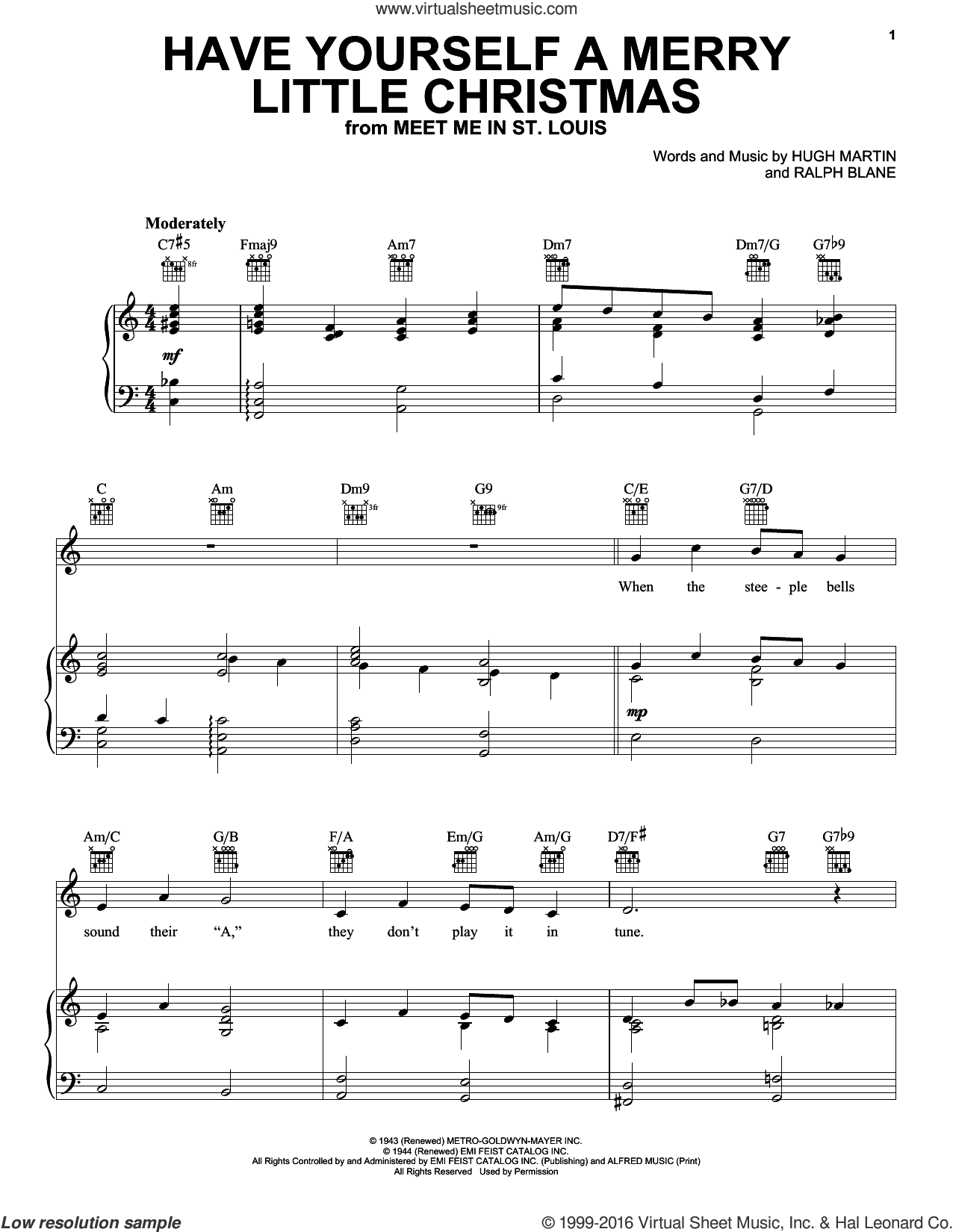 Merry Little Christmas Lyrics.Sinatra Have Yourself A Merry Little Christmas Sheet Music