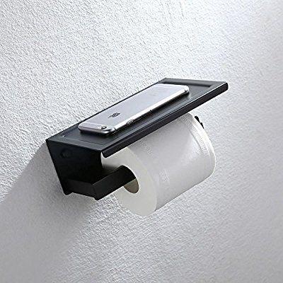 Home Lody Support Mural Porterouleau De Papier Toilette Noir Porte - Porte rouleau papier wc