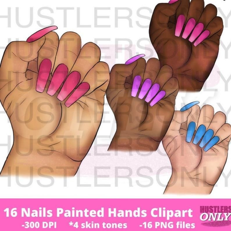 Digital CLIPART Download PNG Nails Hands Cosmetic Clipart