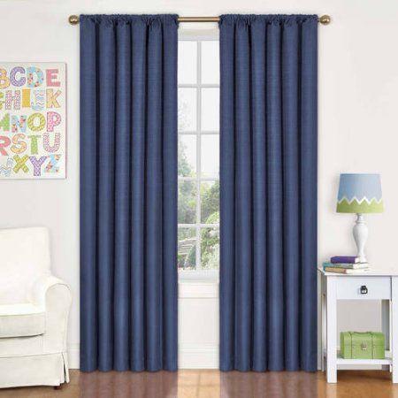 Eclipse Kids Kendall Blackout Window Curtain Panel Blue