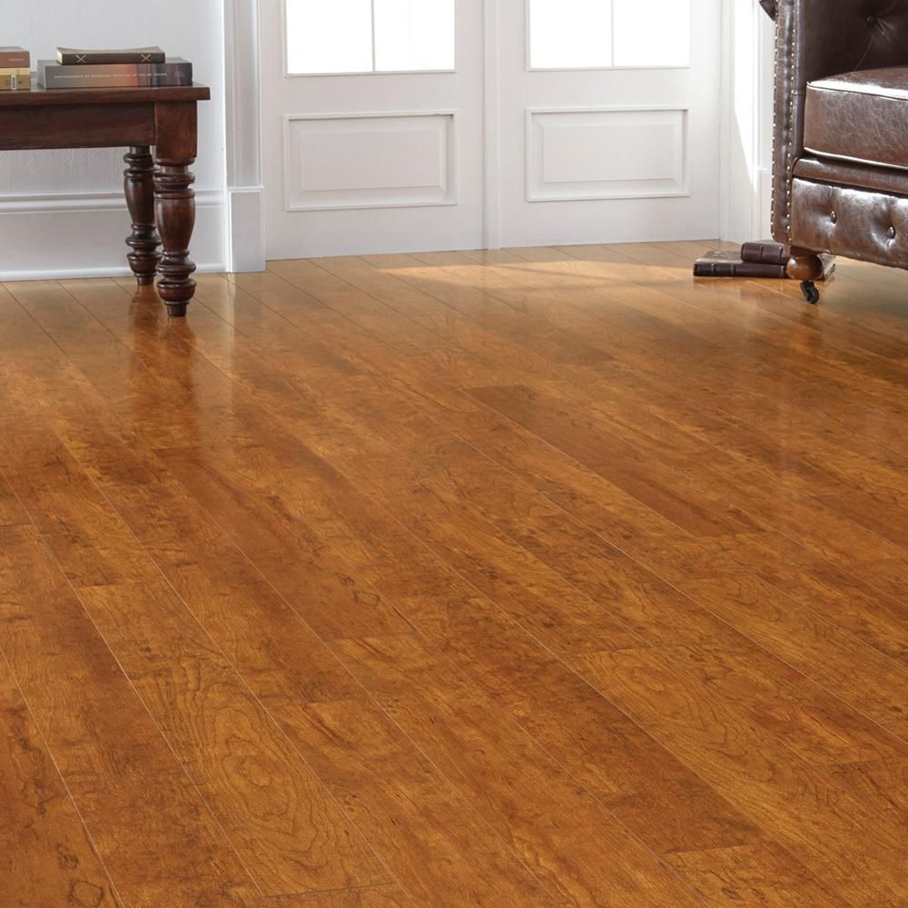 Home Decorators Collection High Gloss Rosen Cherry 12 Mm Thick X 4 7 8 In Wide X 47 3 4 In Length Lamin Flooring Laminate Flooring Home Decorators Collection
