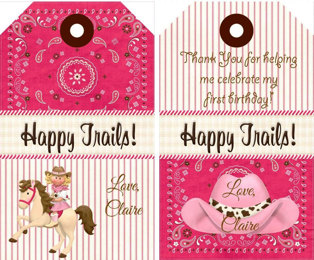 Cowgirl Birthday Decorations Cowgirl Party Tags Cowgirl Cowgirl Party Favor Tagscowgirl