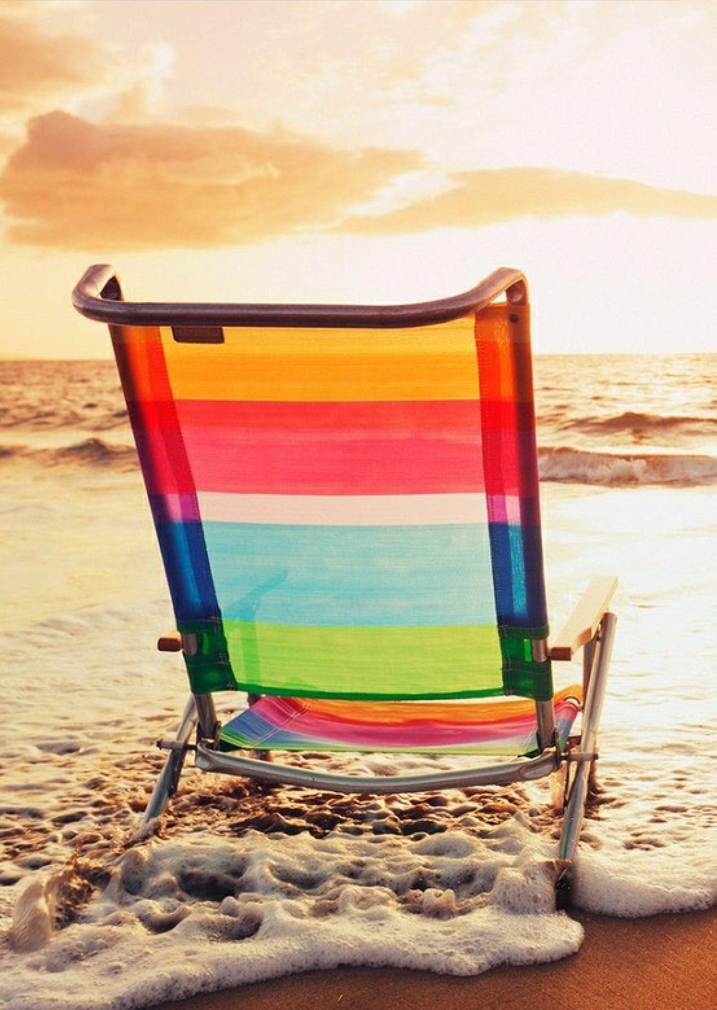 Chair Beach Beach I Love The Beach Beach Time