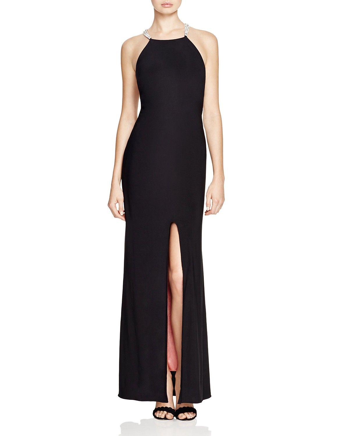 Aqua Embellished Trim Gown 100 Bloomingdale S Exclusive Gowns