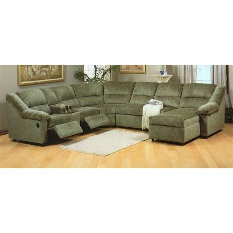 Excalibur 5 pc custom upholstered motion sectional sofa with