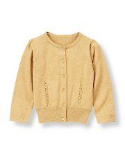 Janie and Jack - mustard/golden cardi for toddler