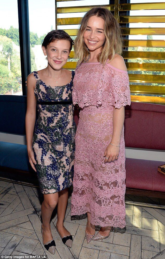 Millie Bobby Brown And Emilia Clarke Aka Eleven From Stranger Things And Daenerys Targaryen From Game Of Throne Celebrity Style Millie Bobby Brown Bobby Brown