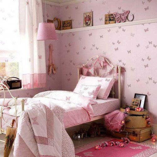 Dormitorios de decoraci n mariposas para dormitorio de for Decoracion dormitorio nina