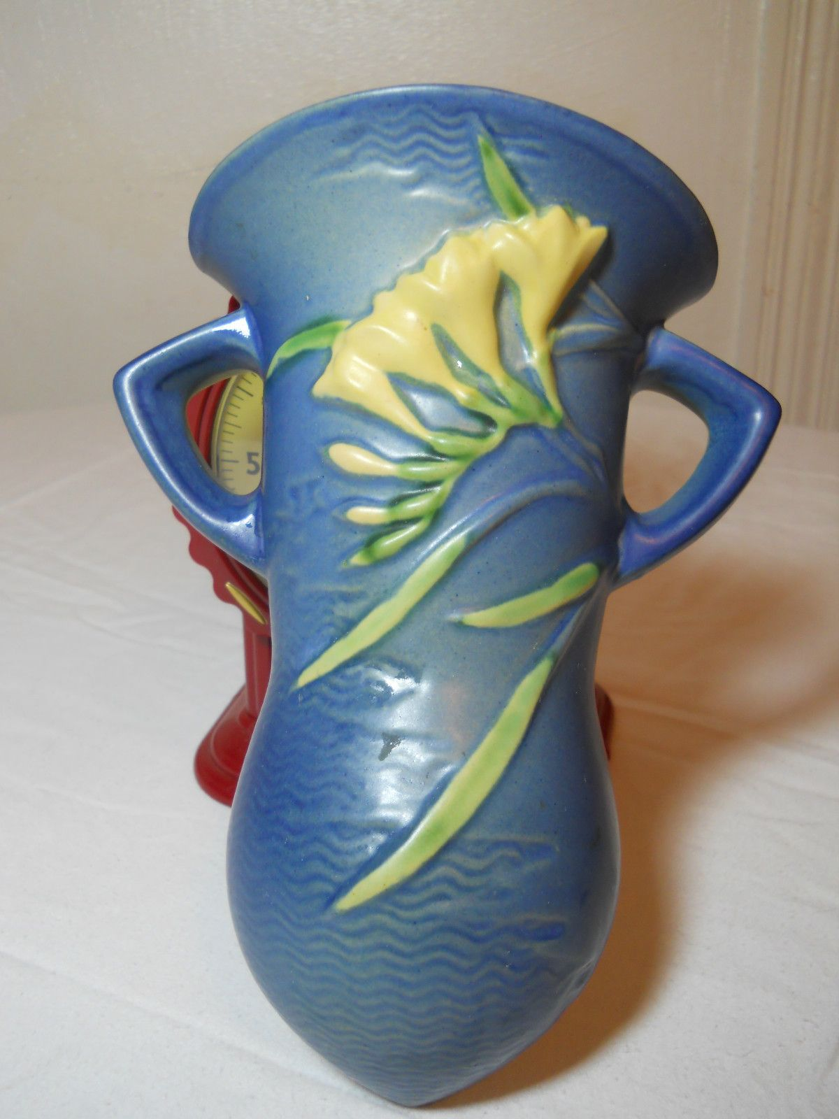 Roseville wall pocket | Wall vase, Pocket vase, Green vase on Pocket Wall Sconce For Flowers id=39458