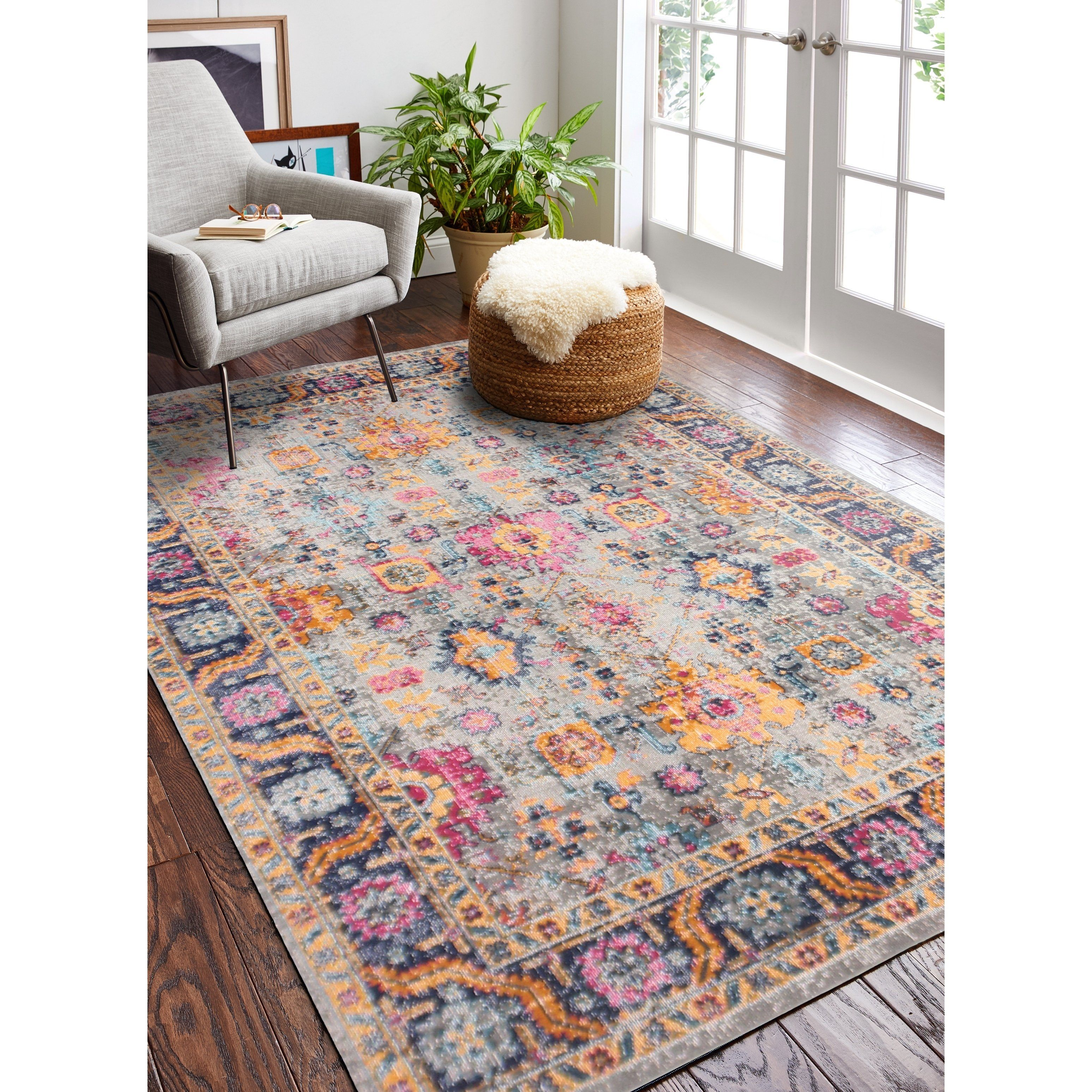 Nate Grey Transitional Area Rug 8 7 X 11 6 Grey 8 7 X 11 6 Gray Transitional Area Rugs Area Rugs Rugs