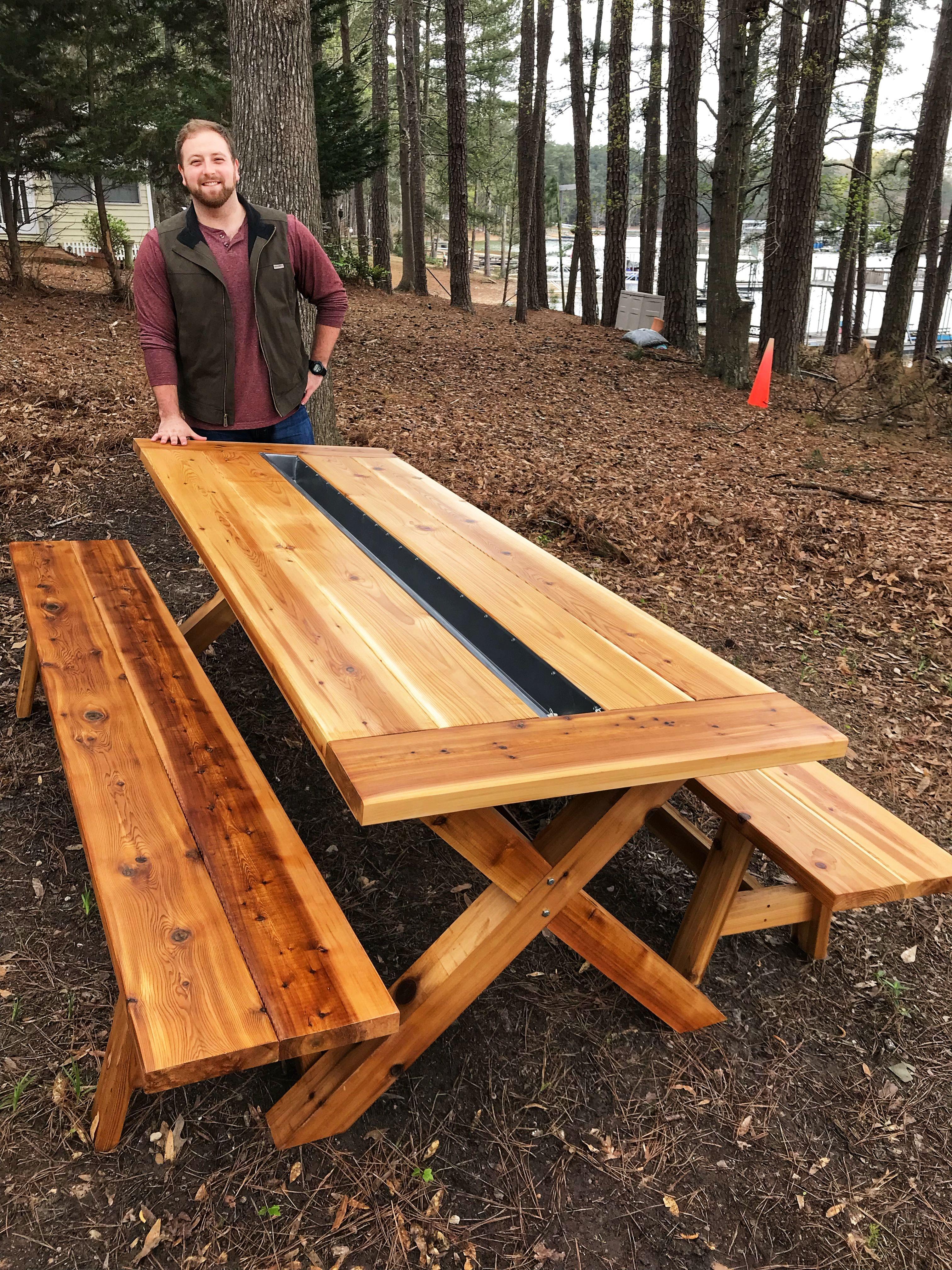 Cedar farmhouse picnic table picnic table farmhouse