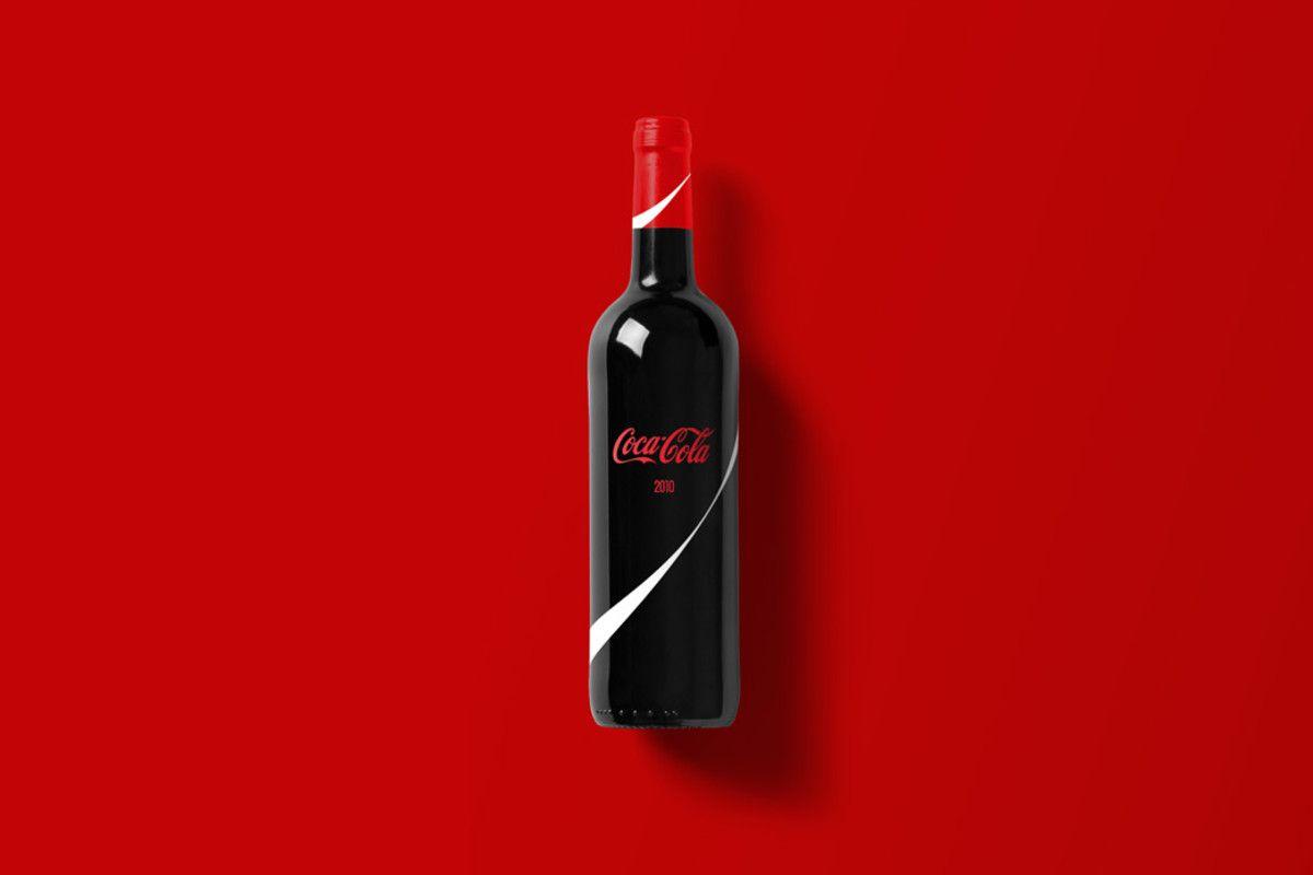Designer Reimagines Popular Brands As Minimalistic Wine Bottles Wine Bottle Bottle Wine Sale