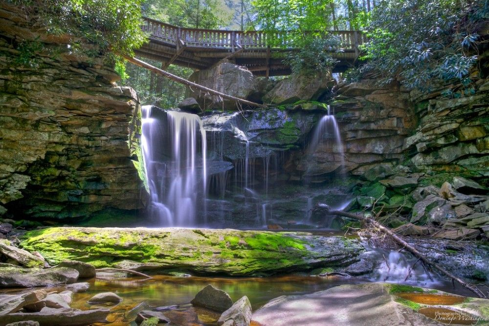 15 Secret Places to Visit in America. This picture is in OhioPyle State Park, close to Frank Lloyd Wright's Fallingwater house.