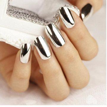 8fac60f6db 5g Silver Mirror Metallic Nail Powder Chrome Pigment Glitter Shining ...