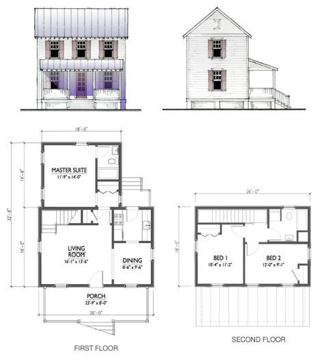Katrina Cottages Rolled Out By Lowes Nationwide Cottage Plan Cottage Floor Plans Tiny House Plans