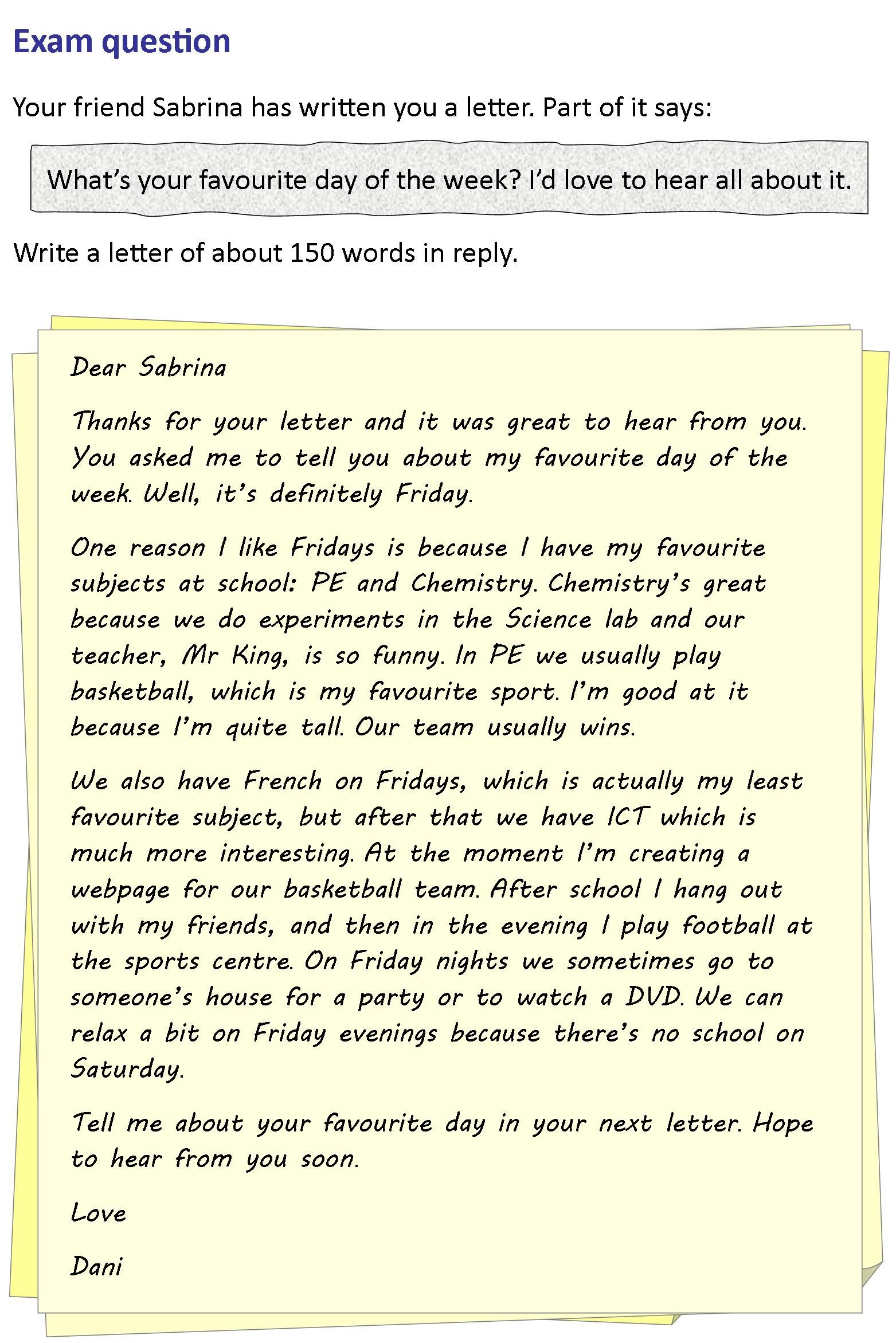 here s another great writing practice activity from our skills here s another great writing practice activity from our skills section a letter to a friend