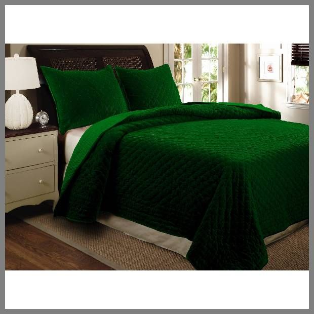 Emerald Green Bedspread Whereibuyit Com Greenland Home Fashions Queen Size Quilt Sets Green Bedding