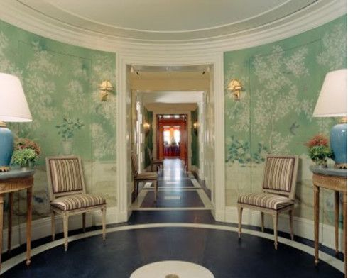 Entry Foyer Wallpaper : Tory burch rotunda entry fabulous foyers