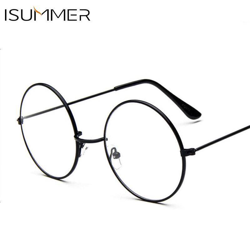 61acafd312 Vintage Transparent Women Glasses Metal Full Frame Optical Round Lens  Glasses Female Men Clear Reading Plain Glasses Oversized Review