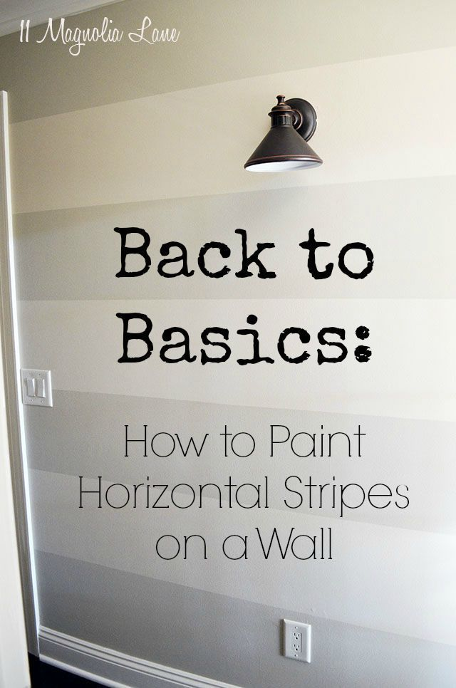 How to Paint Horizontal Stripes On A Wall How to Paint Horizontal Stripes On A Wall. Extremely helpful tutorial and step by step guide to help you accomplish this stylish look for your walls! Thanks to @CGBlack100, you can do it too!How to Paint Horizontal Stripes On A Wall. Extremely helpful tutorial and step by step guide to help you accomplish this st...