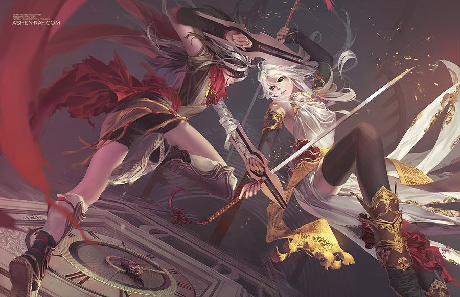 """Duel"" original illustration by Shilin Huang"