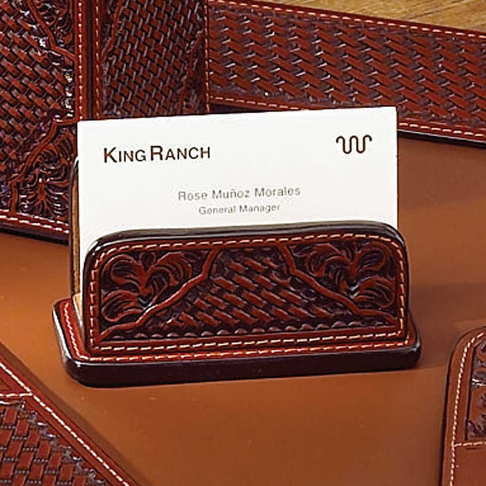 TOOLED LEATHER BUSINESS CARD HOLDER | cool leather items | Pinterest ...