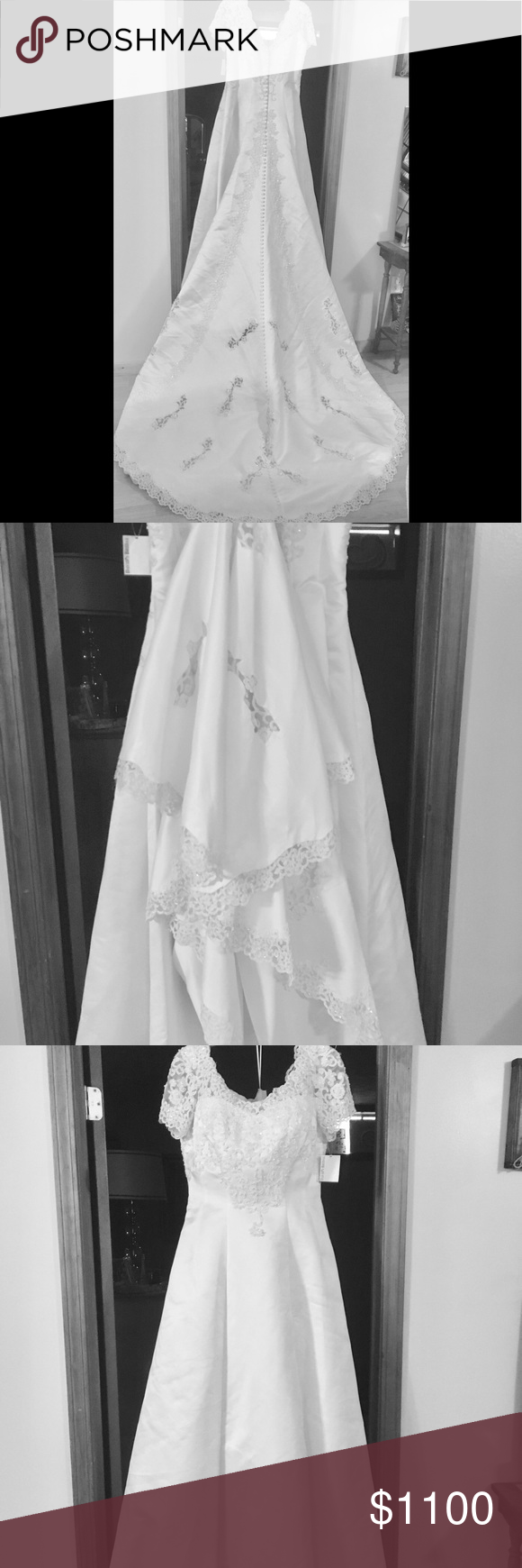 Plz share new exclusive lace bridal gown nwt in my posh