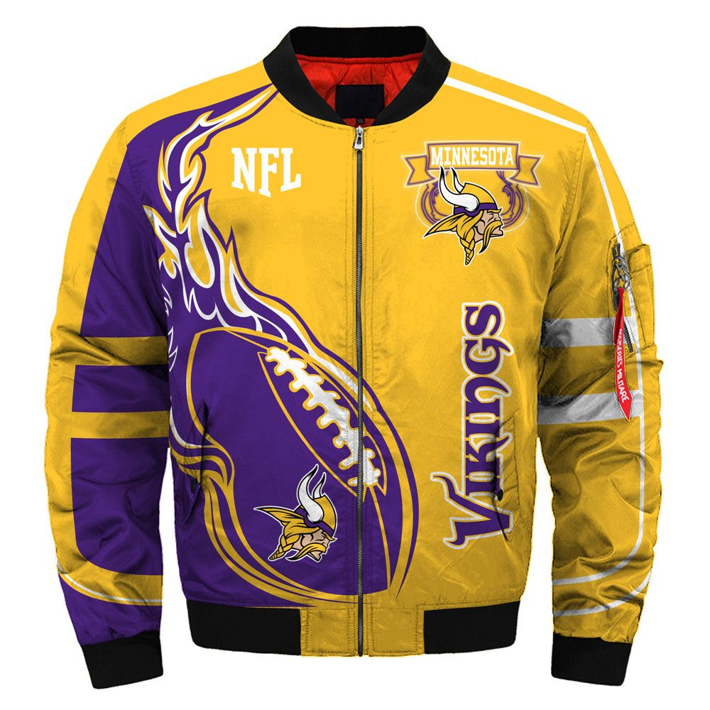 Minnesota Vikings Bomber Jacket Winter Coat Gift For Men Jack Sport Shop [ 1000 x 1000 Pixel ]