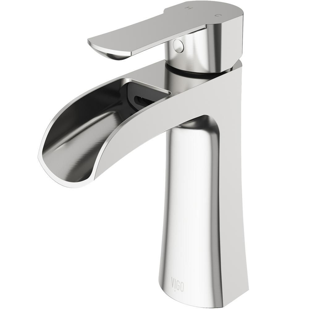 Vigo Paloma Single Hole Single Handle Bathroom Faucet In Brushed