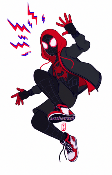 Miles Morales Tumblr Spiderman Dibujo Hombre Arana Comic Superheroes Dibujos