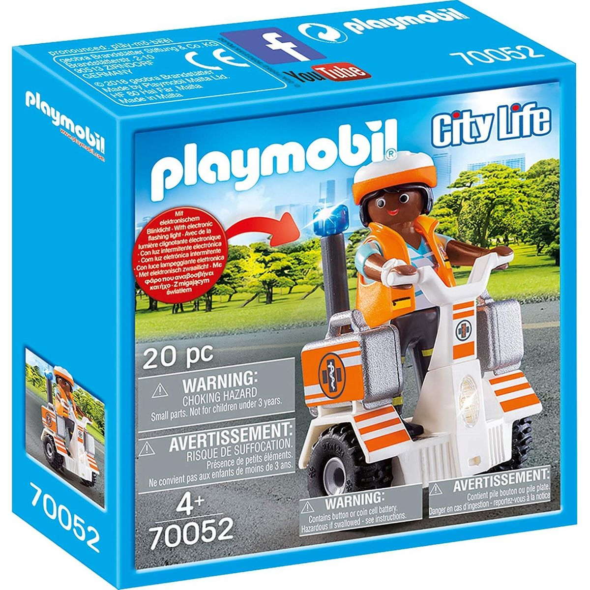 Secouriste Et Gyropode Taille : Taille Unique   Playmobil