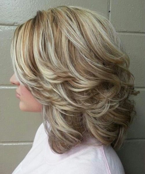 Shoulder Length Thick Layered Hairstyles 2016 For Women Full Dose Medium Curly Hair Styles Medium Hair Styles Hair Styles