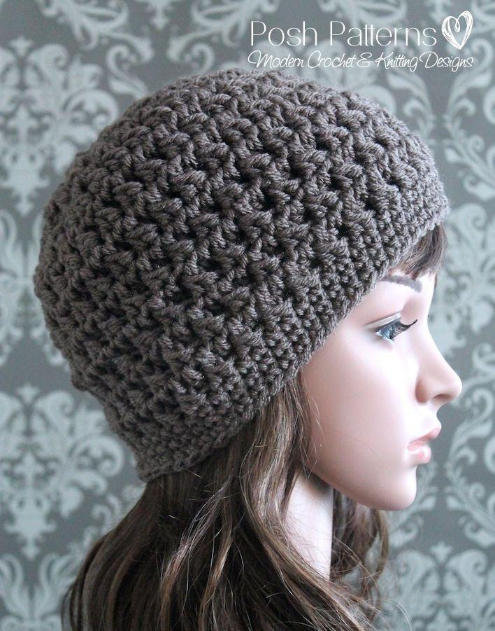 Crochet Pattern Textured Crochet Hat Pattern Beanie Hakovan
