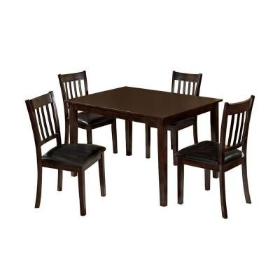 Venetian Worldwide West Creek I 5 Piece Espresso Dining Set Cm3012t 5pk With Images Espresso Dining Set Dining Room Small Extendable Dining Table
