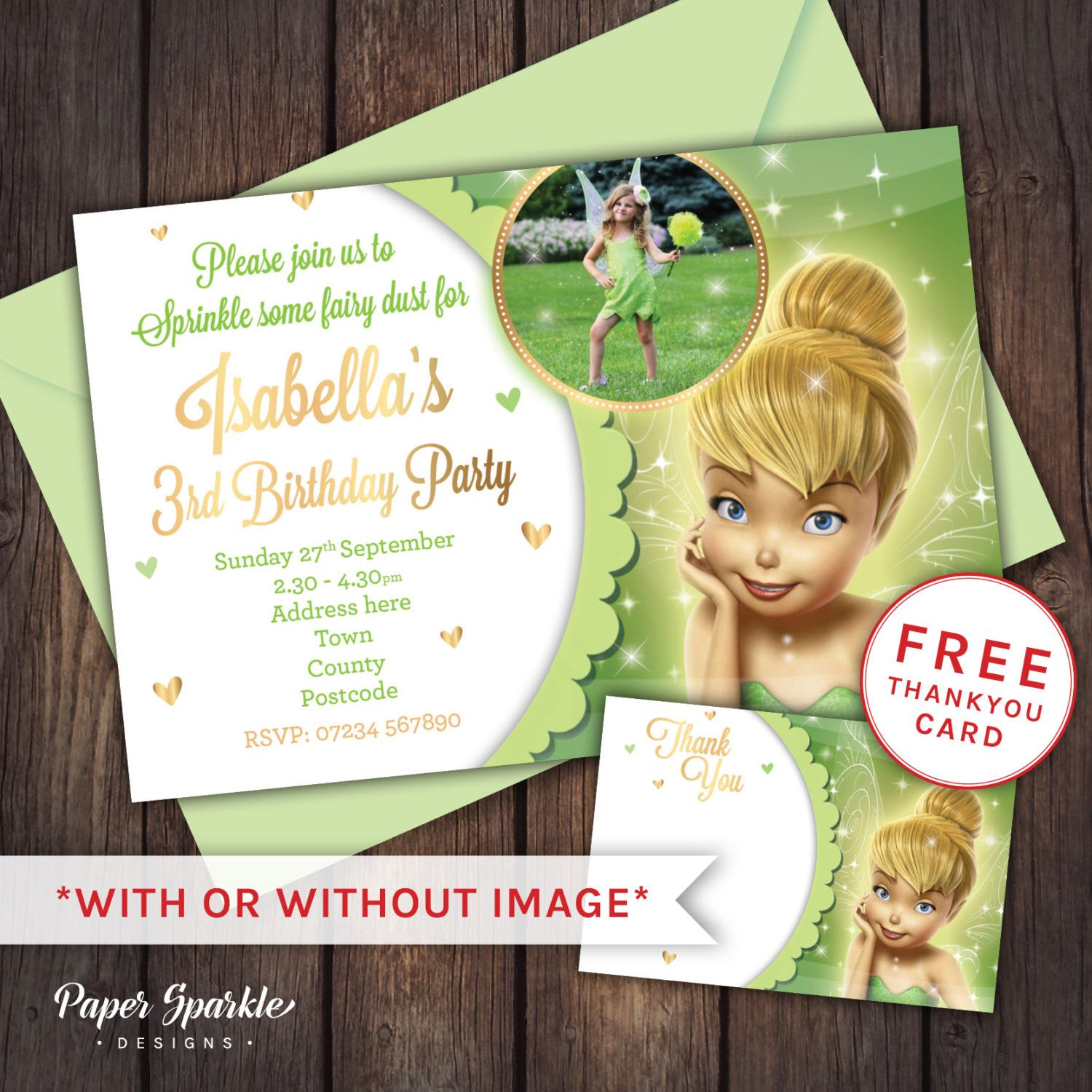Tinkerbell party, Tinkerbell Invitation, Tinkerbell Invite, 1st ...