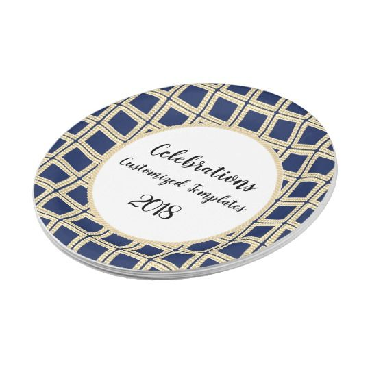 Navy-Gold-II--Celebration-Templates-Customize Paper Plates #plates  sc 1 st  Pinterest : navy paper plates - pezcame.com